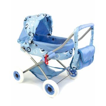 Коляска для куклы Wakart Ева (голубая)