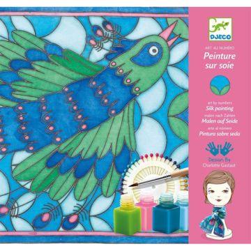 Набор для творчества Djeco Создание шелкового платка Павлины