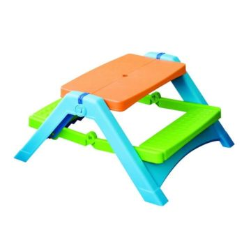 Стол Palplay 376 для пикника (Оранжево-голубой)