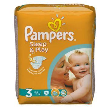 Подгузники Pampers Sleep&Play Midi (4-9 кг) Ромашка 16 шт