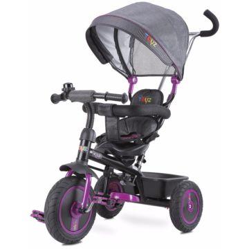 """Трехколесный велосипед Toyz Buzz с колесами 9"""" и 8"""" (фиолетовый)"""