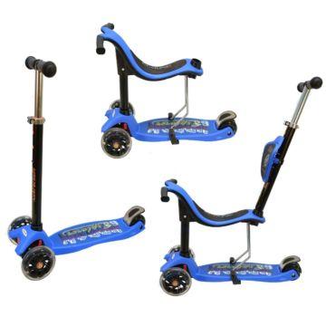 Самокат Ecoline Onex 3D PIC со светящимися колесами (синий)