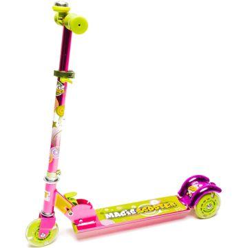 Самокат TechTeam Magic Scooter со светящимися колесами (розовый)