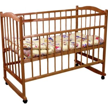 Кроватка детская Фея 204 (качалка-колесо) (Орех)