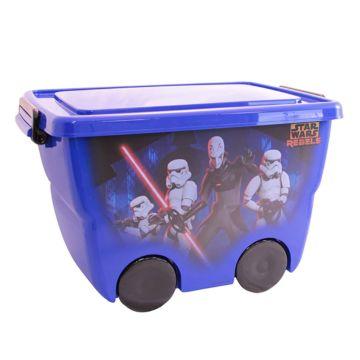 Корзина для игрушек IDEA (М-Пластика) Звёздные войны (Синий)