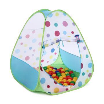Детская палатка Bony Треугольник большой с шарами (Зелёный)