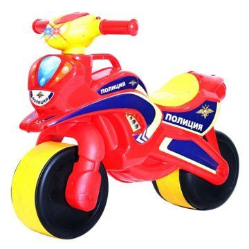 Беговел-мотоцикл RT Motobike Police со светом и сигналами (красный)