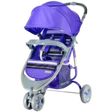Коляска прогулочная Everflo E-940 HoneyBee (Country Purple)