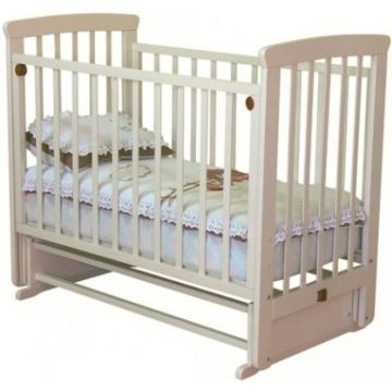 Кроватка детская Можга Марина (поперечный маятник) (слоновая кость)