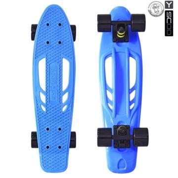 """Мини-круизер Y-Scoo Fish Skateboard Fishbone 22"""" с сумкой (blue)"""
