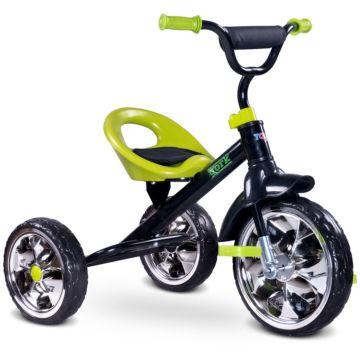 """Трехколесный велосипед Toyz York с ПВХ-колесами 10"""" и 8"""" (зеленый)"""