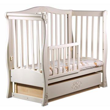 Кроватка детская Наполеон Viva Luxury с поперечным маятником (ваниль)