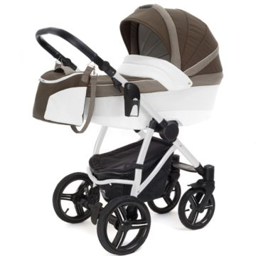 Коляска 2 в 1 Esspero Grand Newborn Lux White Royal Brown