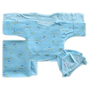Комплект одежды для малыша Little People принт 6 пр. (голубой)