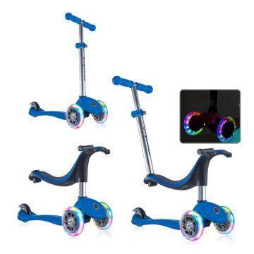 Самокат Globber Evo 4 in 1 со светящимися колесами (dark blue)