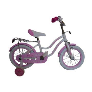"Детский велосипед Farfello Bell YF-011 14"" (Бело-розовый)"