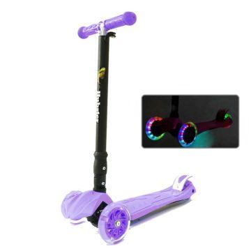 Самокат Hubster Maxi Plus Flash со светящимися колесами (фиолетовый)