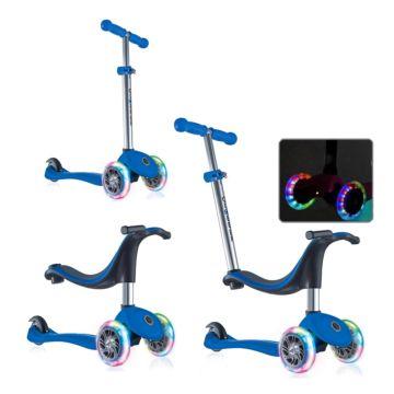 Самокат Globber Evo 4 in 1 с 3-мя светящимися колесами (dark blue)