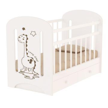 Кроватка детская ВДК Dino (поперечный маятник) (белый)