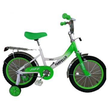 """Детский велосипед Farfello JIFF YF-013 16"""" (Бело-зеленый)"""