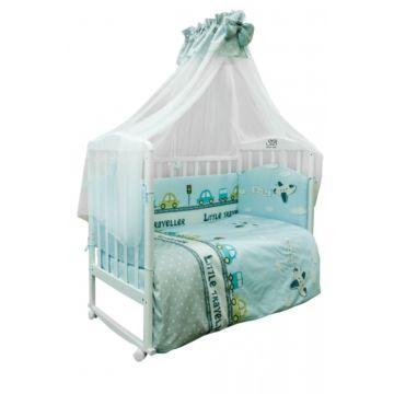 Комплект постельного белья Sweet Baby Viaggio Blue (7 предметов, сатин)