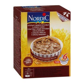 Каша Nordic хлопья 5 видов зерновых 600 г