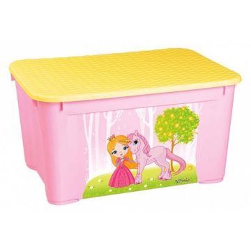 Корзина для игрушек Бытпласт 2 (Розовый)