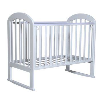 Кроватка детская Кедр Любаша 1-2 (качалка-колесо) (белый)