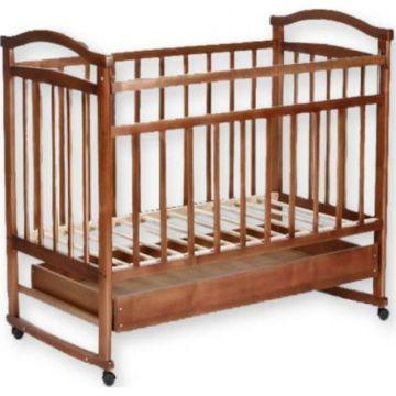 Кроватка-качалка Агат Золушка-2 с ящиком (Орех)