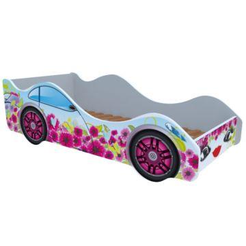 Кровать-машина Кроватка5 Машинки (Цветочный рай)