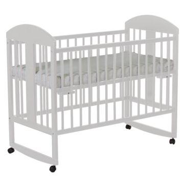 Кроватка детская Gnom Мишки (качалка-колесо) (белый)