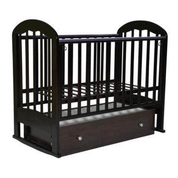 Кроватка детская Кедр Любаша 3-2 (поперечный маятник) (венге)