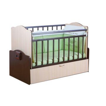 Автоматическая детская кровать Daka Baby Укачай-ка 02 (Венге/молочный дуб)