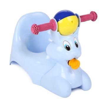 Горшок-игрушка Plastic Centre Зайчик (Голубой)