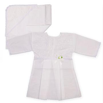 Крестильная рубашка и чепчик Арго для девочки 62