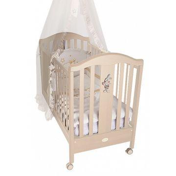 Кроватка детская Feretti Ricordo (колесо) (слоновая кость)