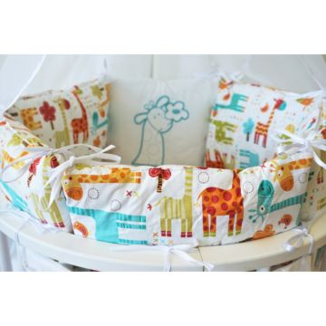 Комплект постельного белья Sleep and Smile (11 предметов, хлопок) (жирафики)