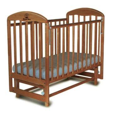 Кроватка детская Альма-Няня Венеция (поперечный маятник) (орех)