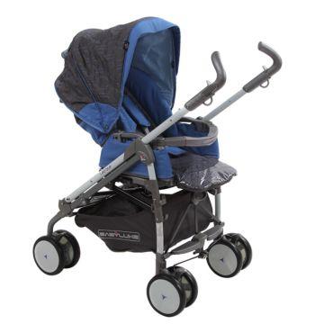 Коляска-трость Babylux Carita 205S (8 колес) (blue)