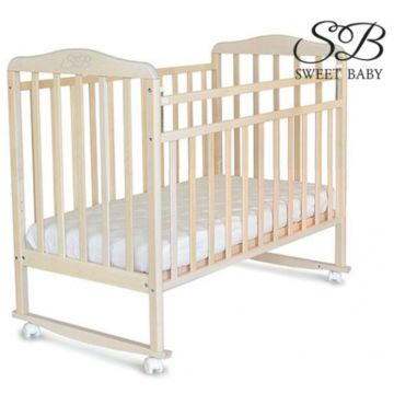 Кроватка детская Sweet Baby Mario (Качалка-колесо) Cammello