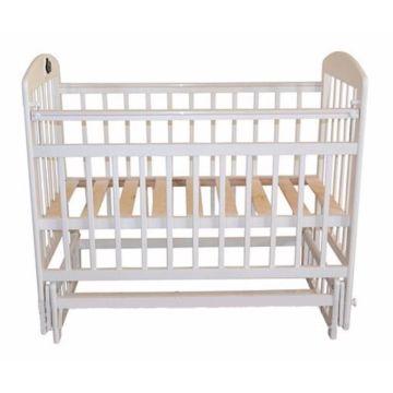 Кроватка детская Briciola 14 с поперечным маятником (белая)