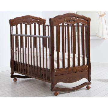 Кроватка детская Гандылян Шарлотта (качалка-колесо) (орех)