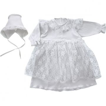 Крестильное платье и чепчик Little People