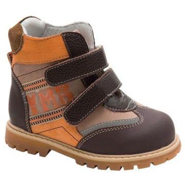 Ботинки ортопедические Twiki утепленные (коричнево-оранжевые, 26-30)
