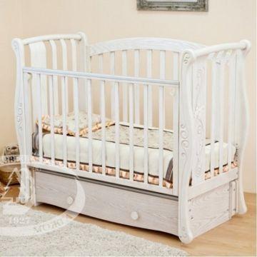 Кроватка детская Можга Ярослава С551 (продольный маятник) (античный белый)