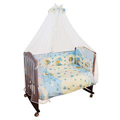 Бампер для кроватки Сонный Гномик Мишкин Сон (голубой)