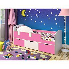 Кровать детская Ярофф Малыш Мини (белое дерево/розовый)