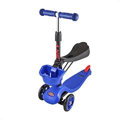 Самокат TechTeam Sky Scooter 2017 с сиденьем и регулировкой руля (синий)