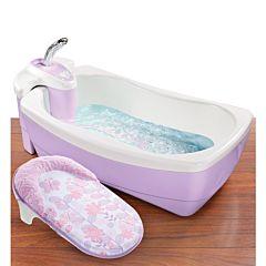Детская ванночка Summer Infant Warming Waterfall с душем (сиреневая)