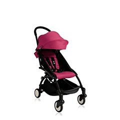 Коляска прогулочная BABYZEN YoYo+ на чёрной раме (Розовый)
